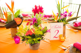 tropical wedding theme real wedding neha bo at zephyr palace costa rica table
