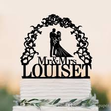 custom wedding cake toppers and groom 2017 custom wedding cake topper silhouette with last name