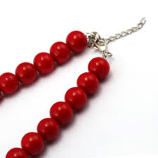 red necklace pendant images Fashion anime one piece portgas d ace red beads necklace cosplay jpg