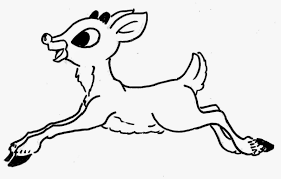 rudolf rednosed reindeer coloring pages coloring