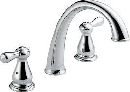 new chrome finish 2 handle delta windemere bathroom sink delta t2775 leland roman tub trim chrome bathtub faucets amazon com