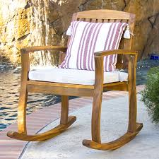 Wooden Rocking Chair Outdoor Amazon Com Best Choice Products Outdoor Patio Acacia Wood
