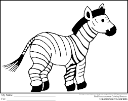 free coloring pages of zebra stripes zebra without stripes