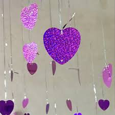 Valentine S Day Wall Decor by Aliexpress Com Buy Heart Shaped Card Love Pendant Wedding