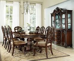 9 pc dining room set deryn park cherry extendable leg dining room set