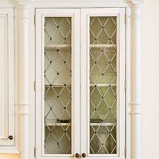 Kitchen Cabinet Door Glass Inserts Kitchen Cabinets With Diamond Shaped Leaded Seeded Glass Front