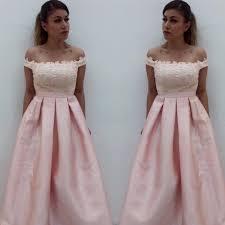 simple dresses shoulder pink satin prom dresses simple formal dresses