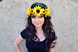 hippie flower headbands sun flower headband sunflower wreath halo crown hippie
