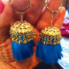 lotan earrings traditional punjabi gold earrings vintage style mostly worn by