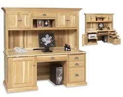 Oak Desks With Hutch Endearing Computer Desk With Hutch Flat Top Computer Desk With