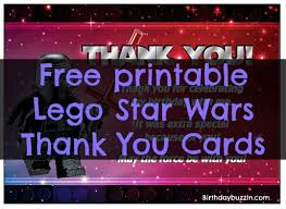 wars thank you cards free printable lego wars thank you cards birthday buzzin