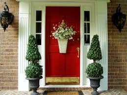 exteriors awesome red front door design with brick stone wall