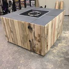How To Make A Propane Fire Pit by Outdoor Fire Pit Made With Wood Pallets Awesome Addition To The