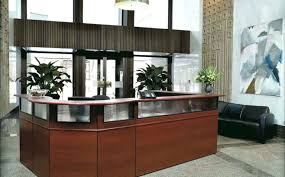 Office Reception Desk Designs Desk Luxury Modern Home Office Desk Design Idea In Black With