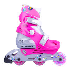 light up inline skates children s rollerblading set worker polly led with light up wheels