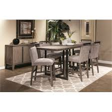 weathered gray contemporary 5 piece counter height dining set