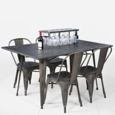Restaurant Dining Chairs China Modern Restaurant Dining Furniture Metal Tolix Table And