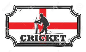 Cricket Flags Abstract Grungy Cricket Stamp With England Flag Royalty Free