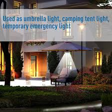 Battery Operated Umbrella String Lights by Qpau Patio Umbrella Light 3 Lighting Modes Cordless 28 Led Lights