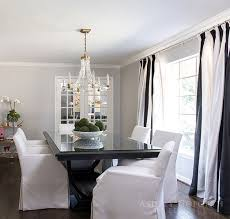 Curtains Dining Room Ideas Black And White Vertical Striped Dining Room Curtains Design Ideas