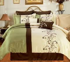 Cream Bedding And Curtains New Bedding Sage Green Brown White Hampton Comforter Set Queen Cal