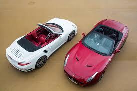 Ferrari California 2015 - porsche 911 turbo s cabrio vs ferrari california t twin test