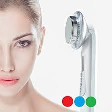led light therapy for skin amazon com rika led massager 3 color photo led light