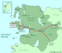 map of county map of county mayo ireland achill tourism