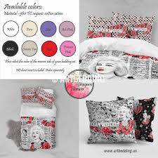 marilyn monroe bedding set hollywood themed duvet bedding set