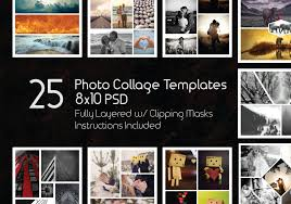 8x10 photo collage templates pack 25 psd templates photoshop