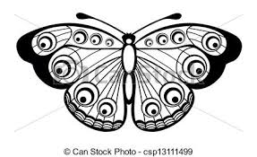 beautiful black and white butterfly isolated on white eps vectors