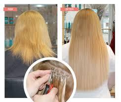 Pics Of Hair Extensions by Påsætning Af Hair Extensions Med Metoden Cold Fusion Påsat Hos