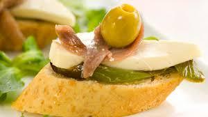canape de receta de canapé de queso con anchoas gurmé
