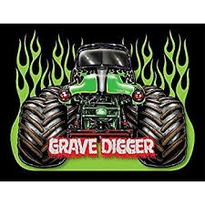 grave digger monster truck poster amazon com grave digger monster truck art print 16 x 12 inches