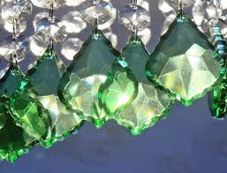 Glass Crystal Chandelier Drops 24 Emerald Green Chandelier Drops Glass Crystals Droplets Chic