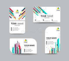 Abstract Business Cards Abstract Business Card Template With Sample Name Position City