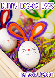 easter easter bunny pipe cleaner bunny easter eggs preschool craft