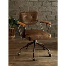 Leather Desk Chair by Acme Furniture Hallie Top Grain Leather Office Chair In Vintage