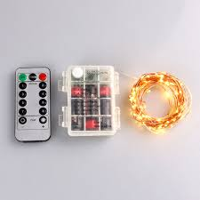 remote control battery lights gflai 5m 8 modes remote controlled battery operated led copper wire