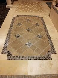 tile floor design idea for the entry waymarble inlay flooring