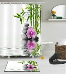 Zen Bath Mat Orchid Spa Zen Bathroom Waterproof Decor Shower Curtain Bath