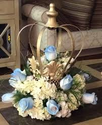 Centerpieces For Boy Baptism by Crown Centerpiece Decorative Crown Painted Gold And Filled With