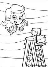 bubble guppies coloring picture coloring pages