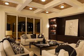 Ceiling Light Crown Molding by Contemporary Living Room With Crown Molding U0026 Carpet In Vero Beach