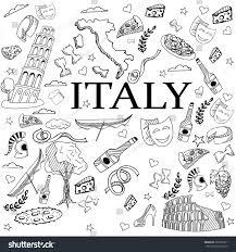 design coloring book italy coloring book line art design stock illustration 396782971