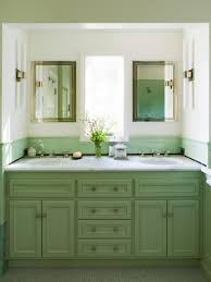 Cottage Bathroom Vanity Cabinets by Master Bathroom With Mint Green Double Vanity A Double Green