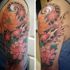 24 best half sleeve tattoos japanese flower images on