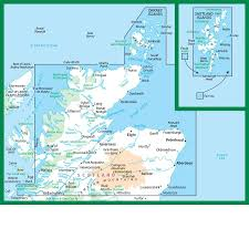 World Map Scotland by Survey Road Map 1 Northern Scotland