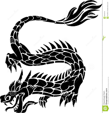 tribal chinese dragon tattoos tribal tattoo dragon stock photos image 6557813