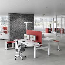workstation desk wooden contemporary commercial canvaro